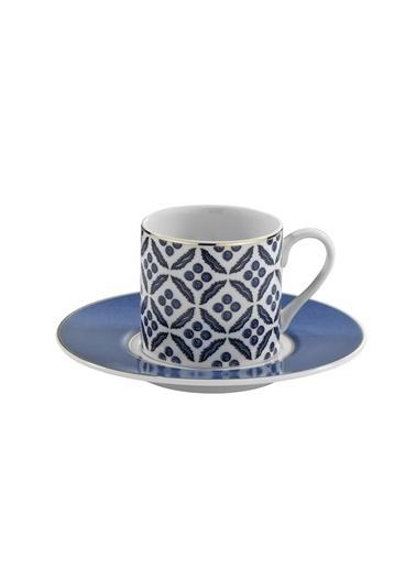 Kütahya Porselen Çintemani 9737 Desen Kahve Fincan Takımı Renkli